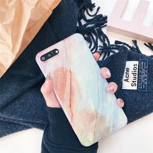 NEW iPhone X/7/8/7+/8+ Glossy Marble Case